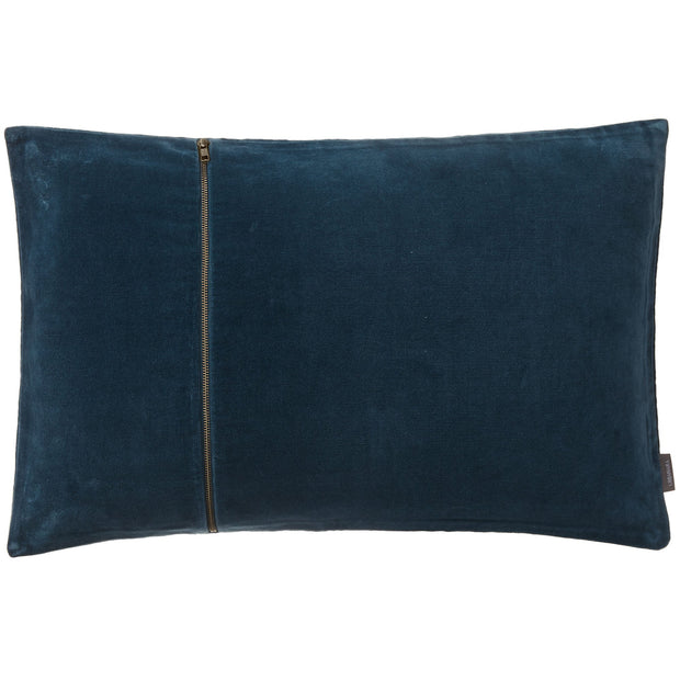 Masoori cushion, teal, 100% cotton