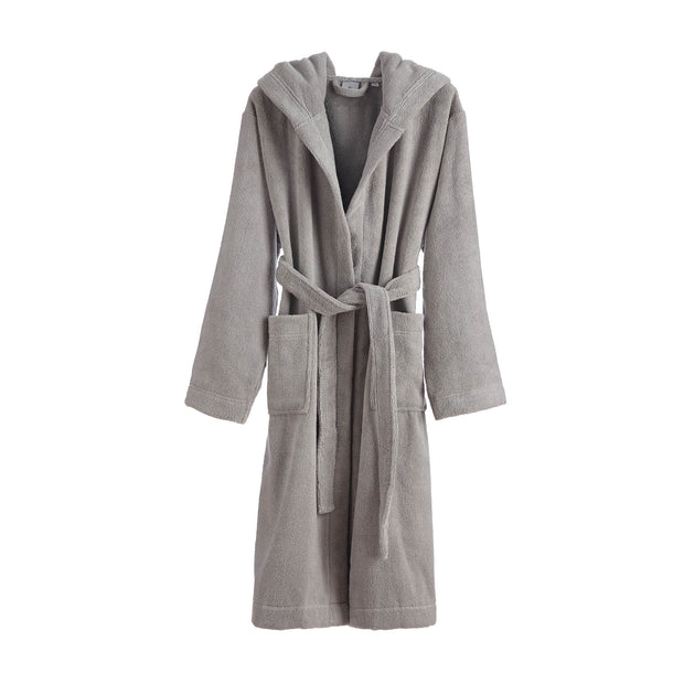 Merouco Capa Organic Bathrobe light grey, 100% organic cotton