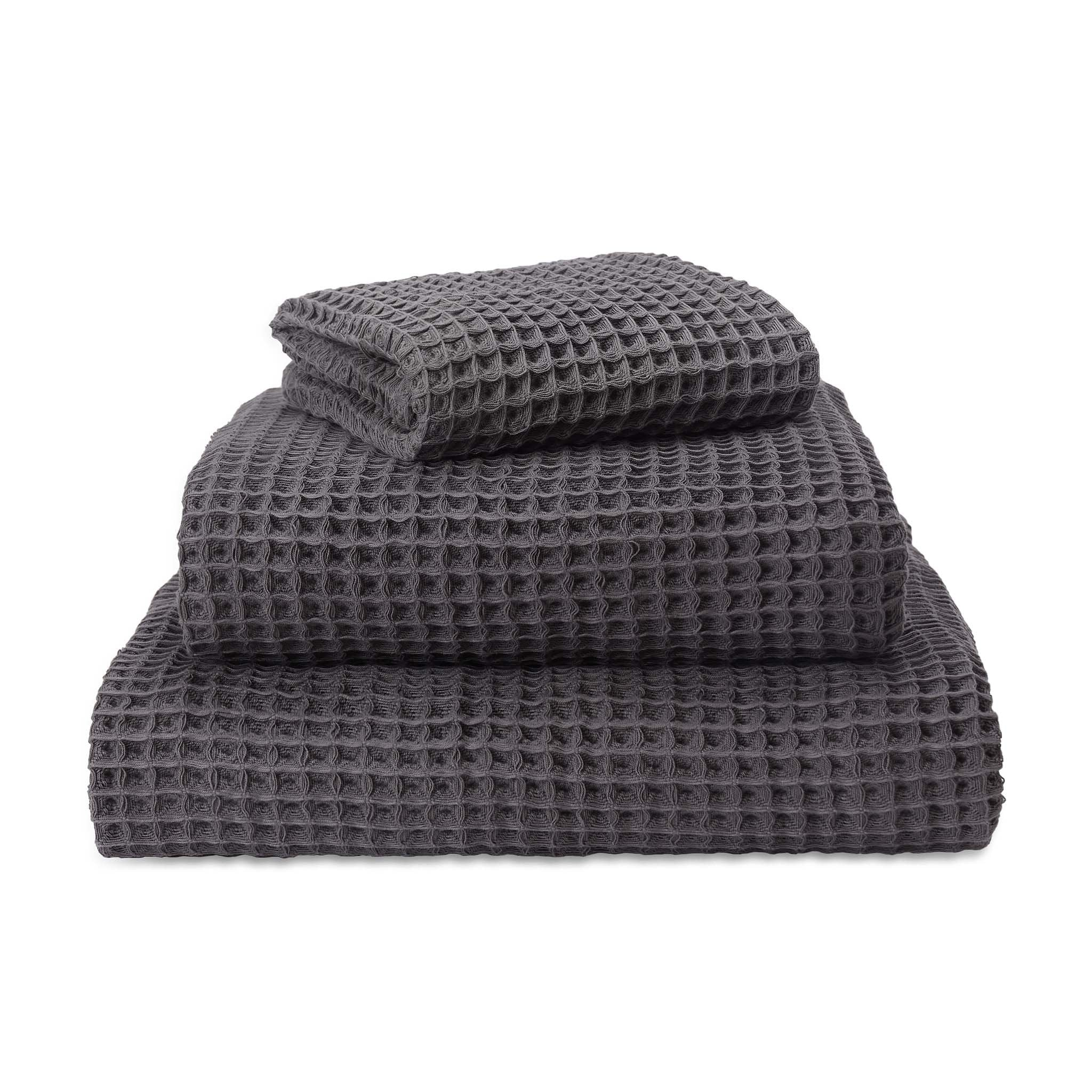 Mikawa Towel Collection charcoal, 100% cotton