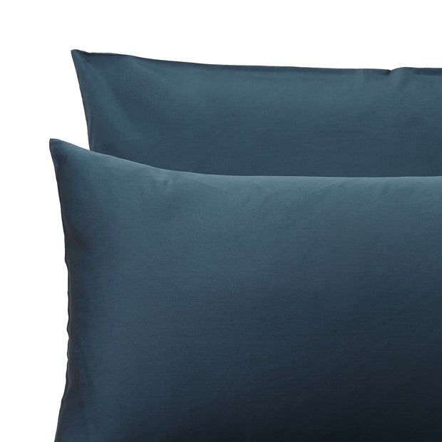Millau duvet cover, teal, 100% cotton | URBANARA sateen bedding