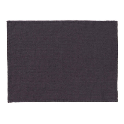 Minija Place Mat Set dark grey, 100% linen