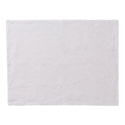 Miral Place Mat Set white, 100% linen