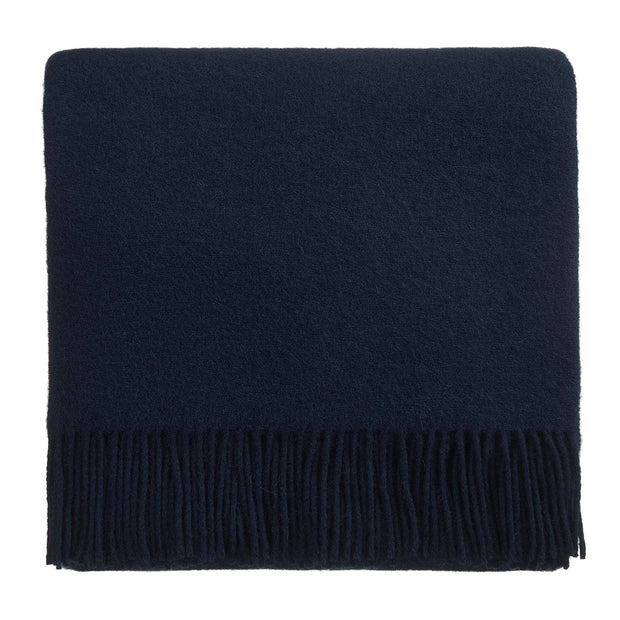 Miramar Wool Blanket dark blue, 100% lambswool