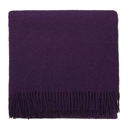 Miramar blanket, purple, 100% lambswool