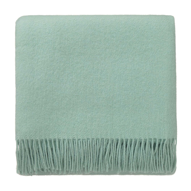 Miramar blanket, mint, 100% lambswool