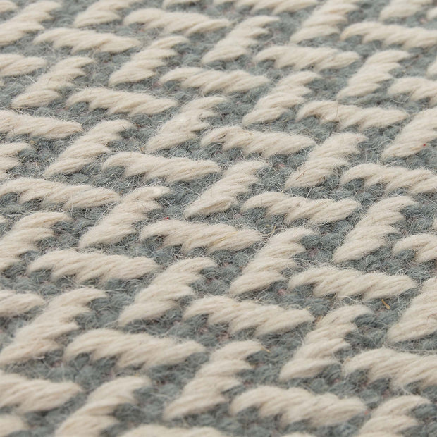 Modiya rug, light grey green & ivory, 100% wool |High quality homewares