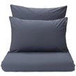 Moledo Percale Bed Linen dark grey blue, 100% organic cotton
