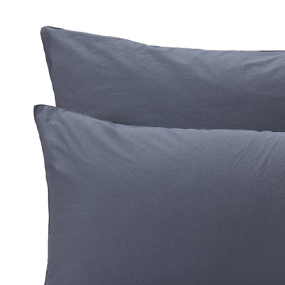 Moledo Percale Bed Linen [Dark grey blue]