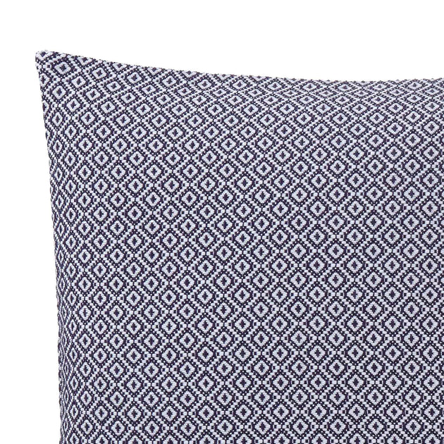 Mondego Cushion in dark blue & white | Home & Living inspiration | URBANARA