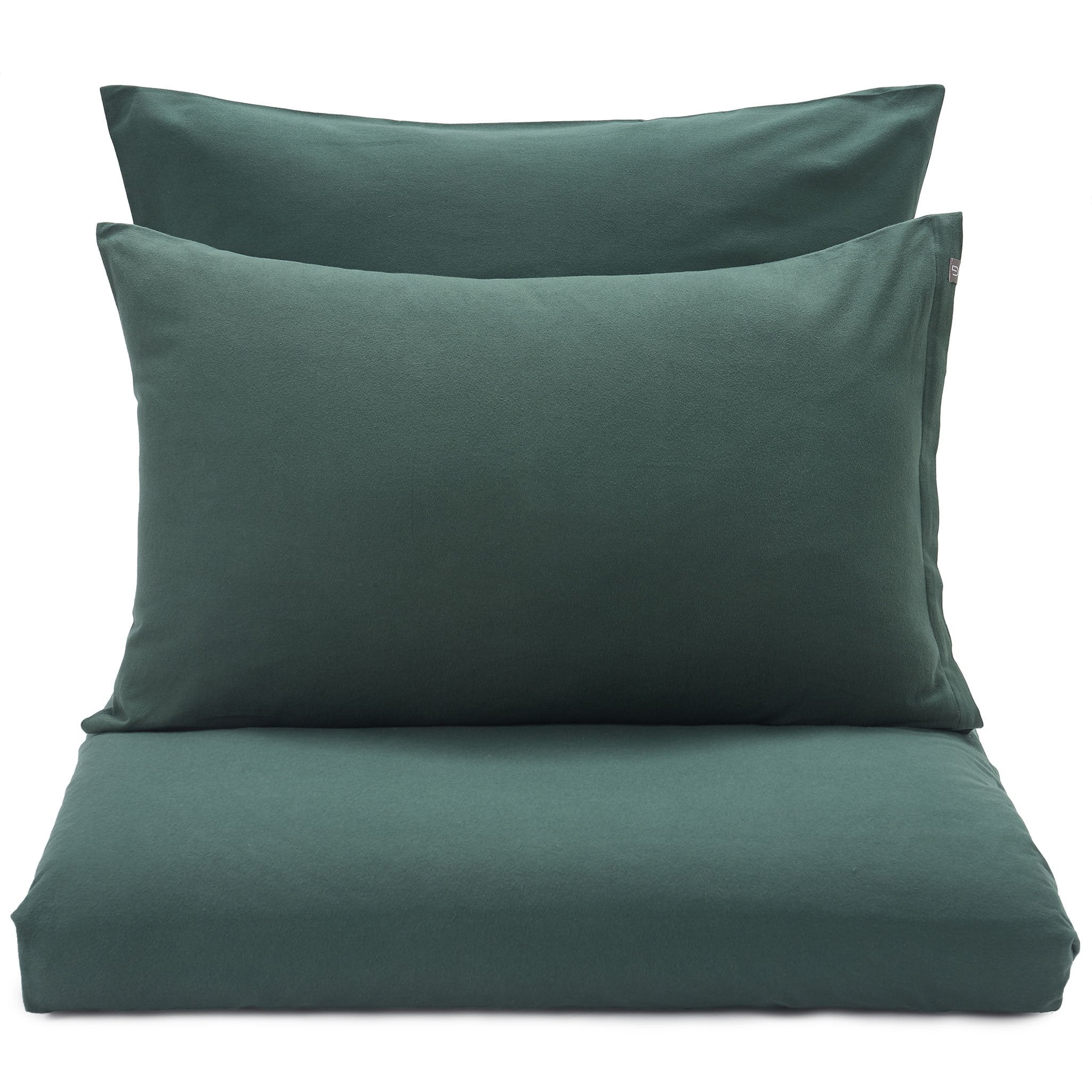 Montrose Flannel Bed Linen dark green, 100% cotton