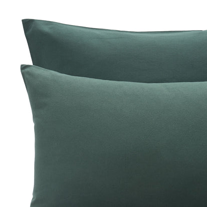 Montrose Flannel Bed Linen in dark green | Home & Living inspiration | URBANARA
