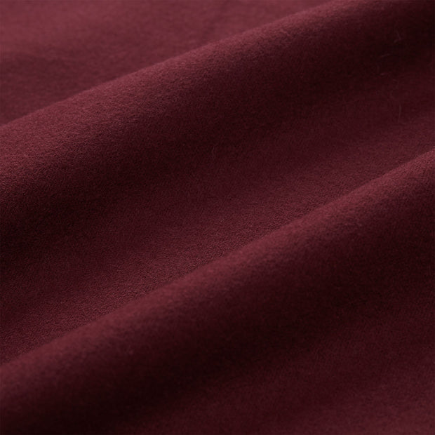 Montrose duvet cover in bordeaux red, 100% cotton |Find the perfect flannel bedding