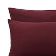 Montrose duvet cover, bordeaux red, 100% cotton | URBANARA flannel bedding