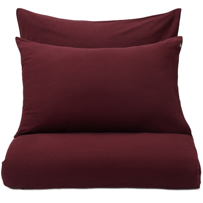 Montrose Flannel Bed Linen bordeaux red, 100% cotton