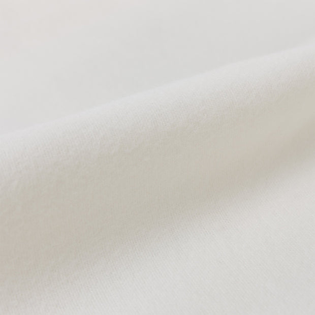 Montrose Flannel Fitted Sheet cream, 100% cotton | URBANARA fitted sheets