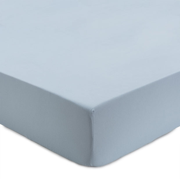 Montrose Fitted Sheet light blue, 100% cotton