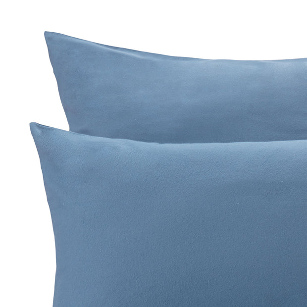 Moreira Flannel Pillowcase in teal | Home & Living inspiration | URBANARA