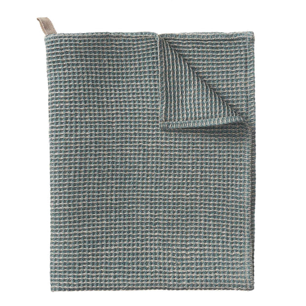 Motrai Tea Towel grey green & natural, 50% linen & 50% cotton