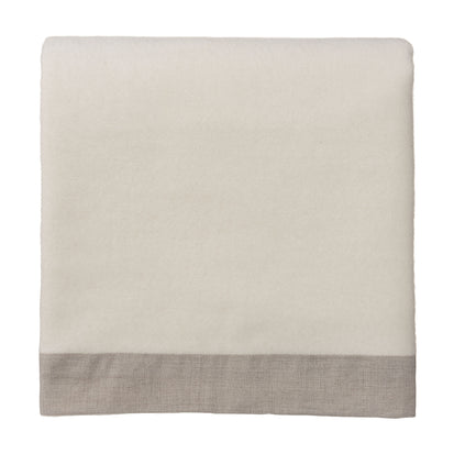 Naggu Blanket off-white & natural, 100% cashmere wool