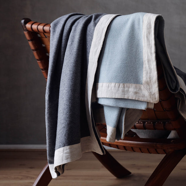 Naggu Cashmere Blanket in green grey & natural | Home & Living inspiration | URBANARA