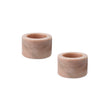 Nanda candle holder, light pink, 100% marble | URBANARA candles & scents
