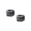 Nanda candle holder, black, 100% marble | URBANARA candles & scents