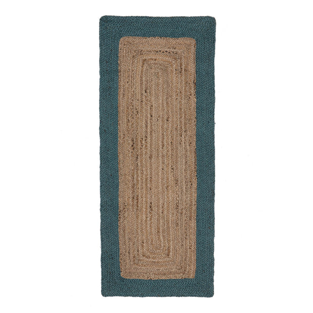Nandi Runner in natural & teal | Home & Living inspiration | URBANARA