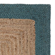 Nandi Runner natural & teal, 100% jute