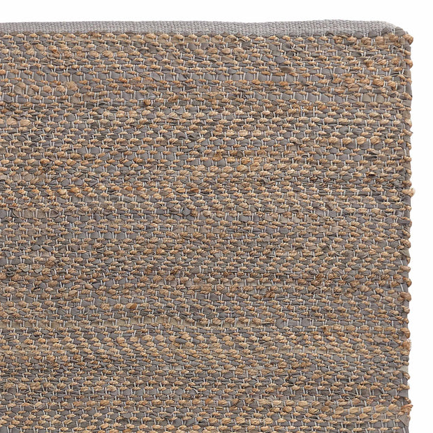 Nattika rug, grey & natural, 45% leather & 45% jute & 10% cotton