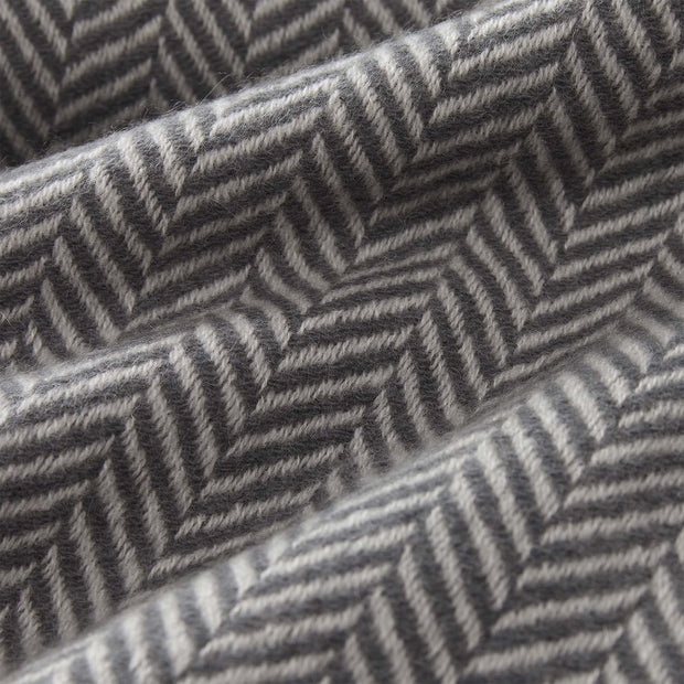 Nerva blanket, charcoal & cream, 100% cashmere wool |High quality homewares