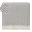 Nerva Cashmere Blanket light grey & cream, 100% cashmere wool