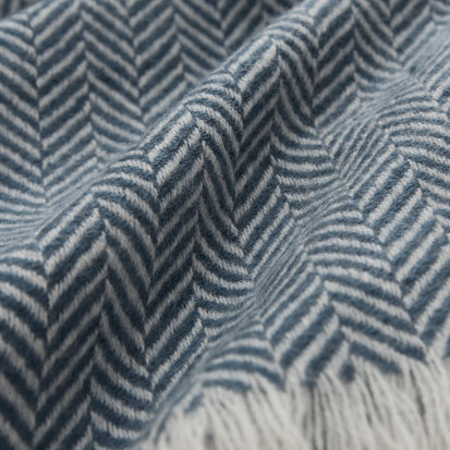 Nerva Blanket in teal & cream | Home & Living inspiration | URBANARA