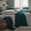 Manteigas Percale Bed Linen in aloe green | Home & Living inspiration | URBANARA