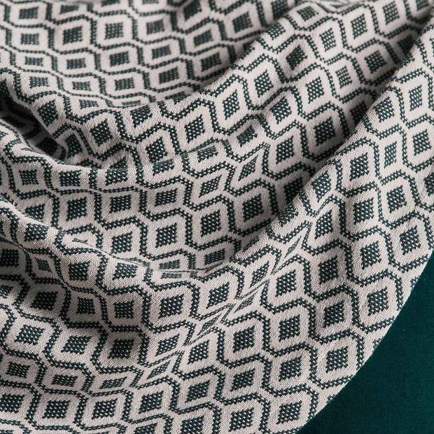 Viana Cotton Quilt [Teal/White]