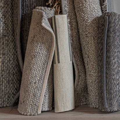 Dindori Rug in ivory melange & grey | Home & Living inspiration | URBANARA