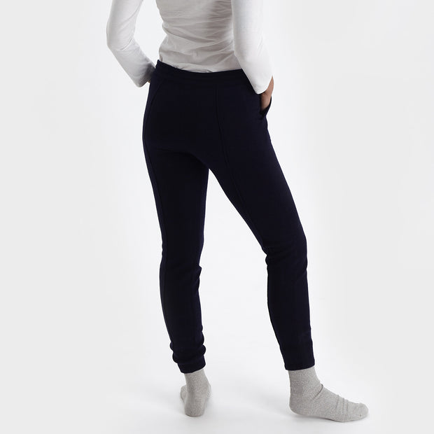 Nora joggers, midnight blue, 50% cashmere wool & 50% wool |High quality homewares