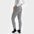 Nora joggers, light grey, 50% cashmere wool & 50% wool | URBANARA loungewear