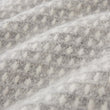 Osele Wool Blanket light grey melange & off-white, 100% lambswool | URBANARA wool blankets