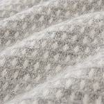 Osele Wool Blanket in light grey melange & off-white | Home & Living inspiration | URBANARA