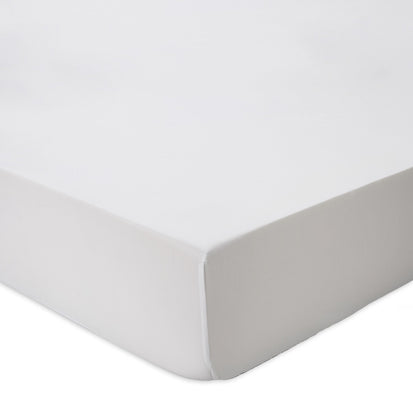 Oufeiro fitted sheet, white, 100% organic cotton