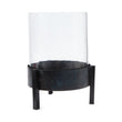 Ozar Windlight Candle Holder black, 100% glass & 100% metal | URBANARA candles & scents