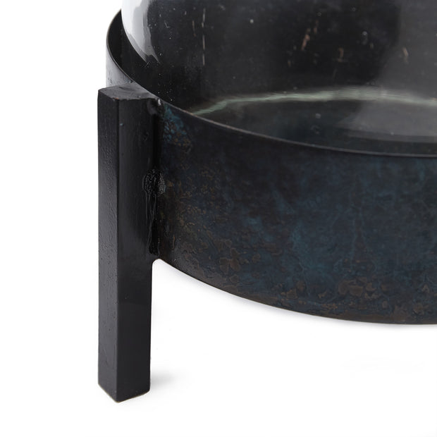 Ozar Windlight Candle Holder black, 100% glass & 100% metal | Find the perfect candles & scents