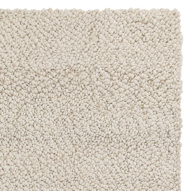 Panchu rug, ivory, 45% wool & 45% viscose & 10% cotton