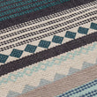 Patewa Rug teal & light blue & grey & off-white, 100% cotton | URBANARA cotton rugs