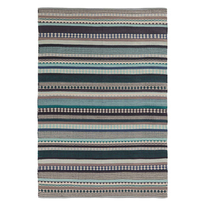 Patewa Rug in teal & light blue & grey & off-white | Home & Living inspiration | URBANARA