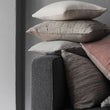 Couco Cushion light grey & grey, 100% cotton | High quality homewares