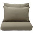 Perpignan duvet cover, olive green, 100% combed cotton