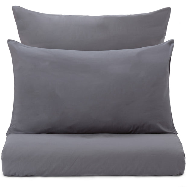 Perpignan Percale Bed Linen grey, 100% combed cotton