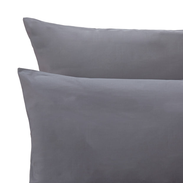 Perpignan Percale Bed Linen grey, 100% combed cotton | URBANARA percale bedding
