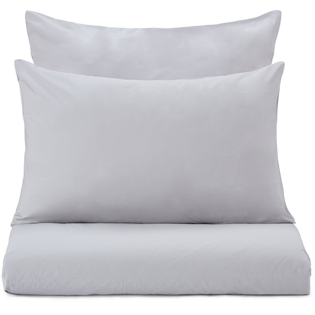 Perpignan Percale Bed Linen light grey, 100% combed cotton